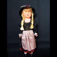 Vintage Ethnic Doll from Austria by runwaycrochet on Etsy
