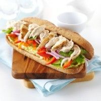 Vietnamese-Style Chicken Sandwiches (Banh mi) - Recipes to try - Asian Chicken Sandwich, Sandwich Recipes, Best Chicken Recipes, Asian Recipes, Great Recipes, Ethnic Recipes, Chicken Ideas, Vietnamese Recipes, Food Recipes