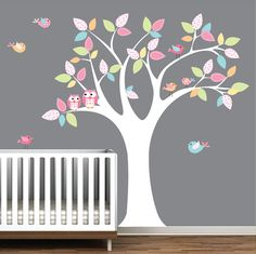 Nursery Wall Decal Stickers Children Wall Decal Owl by Modernwalls, $99.00