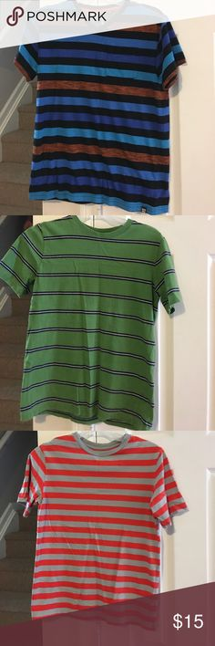 Boys clothing Multicolored stripe shirts 4 for $15 Shirts & Tops Tees - Short Sleeve