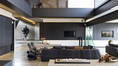 living room / Kloof Road House | Nico van der Meulen Architects | Archinect