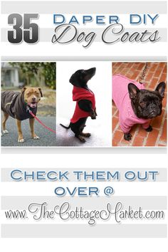 35 DIY Dog Coats #DIYCoatsforDogs, #DIYDogCoats, #DogCoats, #DogCoatDIY, #DogCoatProjects