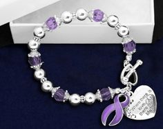Where There Is Love Fibromyalgia Ribbon Bracelet – Fibromyalgia Awareness Store