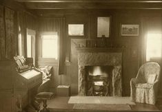 The living room at Rocky Ridge Farm--Laura Ingalls Wilder's home.