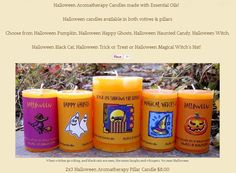Halloween Aromatherapy Candles made with Essential Oils! Halloween Candles, Halloween Ghosts, Halloween Pumpkins, Essential Oils, Halloween Trick Or Treat, Happy Halloween, Aromatherapy Candles, Candle Making