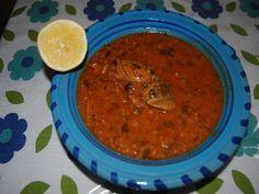 Soupe de poisson(chorba frik au poisson)