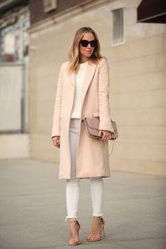 Long blush coat