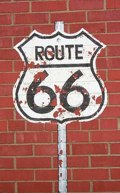 Route 66 Shield, from a gas station in Chandler, Oklahoma