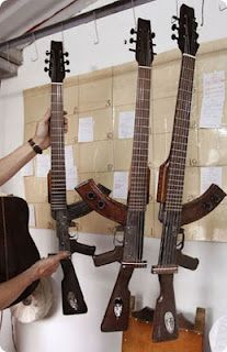 Guitars ak-47 ~ interesting ~ will have to show these to John