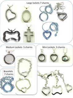 So many locket options at www.charmingincentives.com    #floatinglockets Floating Lockets, Locket Charms, Pandora, Charmed, Pendant Necklace, Mini, Bracelets, Jewelry, Jewels