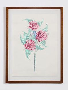 "Leeza Doreian | by SJICA Handmade Manmade #3, 2015 Gouache on paper 22 x 20"" Retail Price: $700 Courtesy of the Artist"