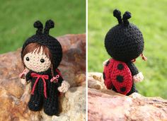 Ladybird, amigurumi, by Mia Zamora Johnson.  Pattern to buy, Ravelry