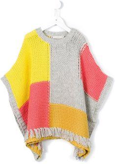 Stella Mccartney Kids 'Agnes' patchwork poncho