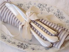 Rolled Napkin with Silk Bow