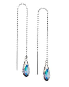 "The 4"" Crystal AB Expressions Threader Earrings by JewelMint.com, $34.00"