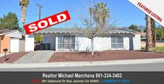 Home For Sale in San Jacinto California 391 Oakhurst Dr San Jacinto CA 92583 Realtor Michael Marchena Home Team