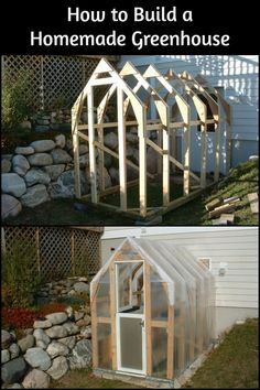 It may take a little bit of work but your effort will give you your very own homemade greenhouse!