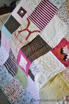 quilt from my favorite baby outfits