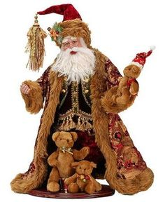 Mark Roberts Collectible Teddy Bear Santa