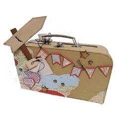 Une valise urne sur le thème du voyage.