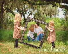 family photography picture frame portrait...... With grand kids holding frame