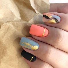 Shellac Nail Art, Red Acrylic Nails, Nail Manicure, Summer Acrylic Nails, Judy Nails, Gel Nail Art Designs, Nail Design, Hot Nails, Dark Nails