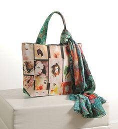 """Cosmo Fashion """" Colourful girls """"   Buy @ inhoma.de #inhoma #Taschen #Scarfs  #Einkaufstaschen  #FreizeitTaschen #FrauenTaschen #PartyTaschen"""