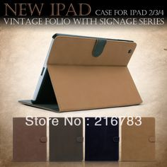 New Top Quality Luxury Elegant Retro Magnetic Smart Turnover Leather Cover Case For Apple Ipad 2/3/4  for ipad Air Free Shipping $15.88