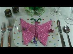Napkin Folding - How to fold My Butterfly.
