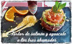 la cocina facil de lara: Tartar de salmón,aguacate y mayonesa de curry a los tres ahumados