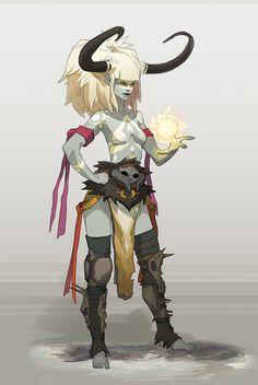 Fantasy Fighters - Thunder female 1 on Behance #tiefling