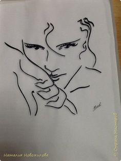 Картина панно рисунок Квиллинг Ромео и Джульетта или весна юность и любовь Бумажные полосы фото 1