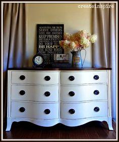 {createinspire}: Drexel Dresser in Creme