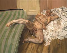"Lucian Freud ""Nude With Leg Up (Leigh Bowery)"""
