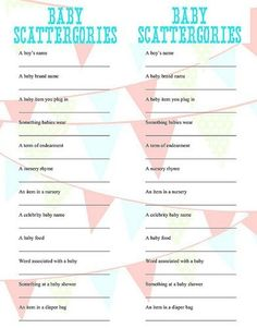 Baby Scattegories baby shower game baby-shower