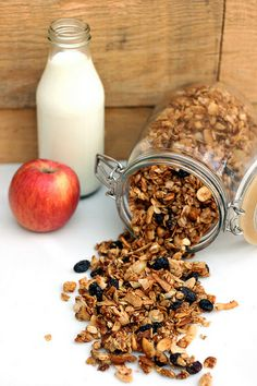 Apple Spice Granola (Gluten-free Vegan)