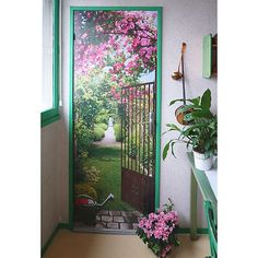 Resultado de imagen para Trompe L'oeil - Gothic Window and flowers