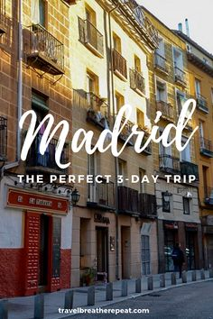 How to spend 3 days in Madrid, Spain including main attractions and restaurants; madrid spain europe traveltips travel via 246923992087505706 Europe Destinations, Europe Travel Tips, European Travel, Travel Advice, Travel Guides, Backpacking Europe, Travel Goals, Budget Travel, Medan