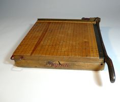 """PAPER CUTTER - wooden 13"""" maple  ... I have one just like this, I got it from my Mother In-Law ... a school teacher!"""
