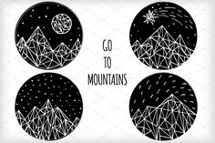 Call of mountains Scetched ink mountains. ZIP contains 3 EPS – black and white, invert variant and colored and textured mountains. Also you will have 3 JPEG copies, one of them isolated on white. Mountain Texture, Geometric Mountain, Mountain Illustration, Simple Line Drawings, Creative Sketches, Pencil Illustration, Paint Markers, Photoshop Elements, Business Card Logo