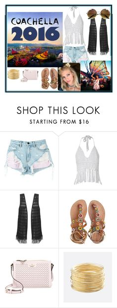 """""""Fringe #Coachella 2016"""" by tida2345 ❤ liked on Polyvore featuring Alexander Wang, Laidback London, Kate Spade and Avenue"""