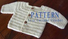 Ravelry: Crochet Baby Sweater Pattern, Boy Sweater Jacket pattern by Lisa Corinne Crochet