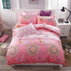 cotton/polyester microfiber Bedding Set Duvet Cover Set 1pc Duvet Cover 1pc Bed Sheet Set 2pcs Pillowcase Full/Queen/King Size Price: USD 49.9 | United States