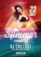 Summer Time | Psd Flyer Template by RomeCreation