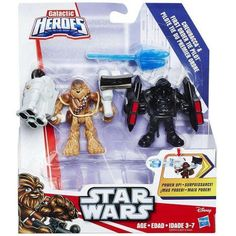 Star Wars Galactic Heroes Chewbacca and First Order Tie Pilot, Multicolor
