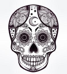 Image result for day of the dead sugar skulls illustrations
