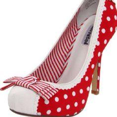 Mrs Claus needs these Dream Shoes, Crazy Shoes, Me Too Shoes, Pump Shoes, Shoe Boots, Shoe Bag, Women's Shoes, Polka Dot Heels, Polka Dots