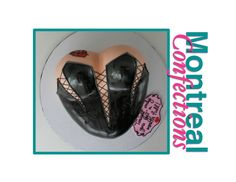 Sexy black leather corset cake - Complete cake decorating tutorial