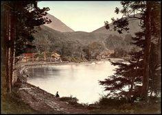 SITTING ON THE SHORE OF LAKE ASHI NEAR HAKONE VILLAGE in OLD 1880s JAPAN | by Okinawa Soba (Rob)