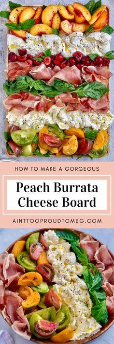Burrata Recipe, Burrata Salad, Burrata Cheese, Cheese Appetizers, Appetizer Recipes, Salad Recipes, Party Appetizers, Charcuterie Recipes, Charcuterie Board